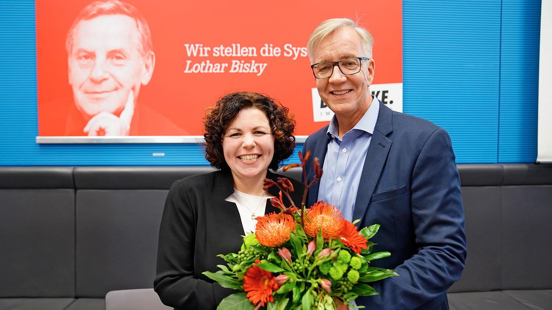 Amira Mohamed Ali und Dietmar-Bartsch